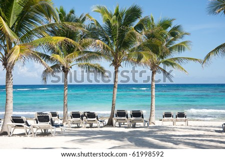 Riviera Maya's beach - stock photo