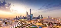 Riyadh city towers in Saudi Arabia