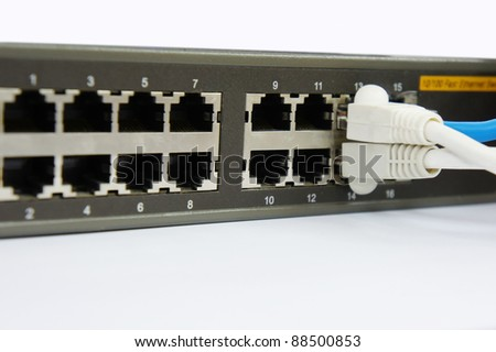 rj45 cable port with router