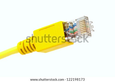 Rj45 connector isolated on white