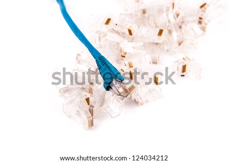 RJ45 or 8P8C network cable plastic head