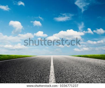 Road ahead into the future #1036771237