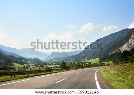 road along Alps #569012146