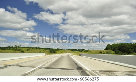 road and beautiful sky