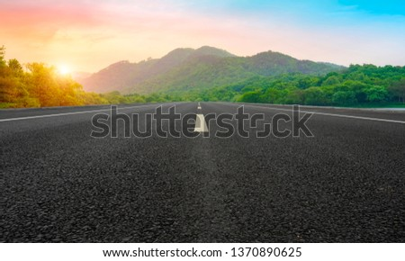 Road and Natural Landscape Landscape #1370890625