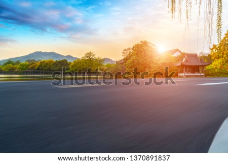Road and Natural Landscape Landscape