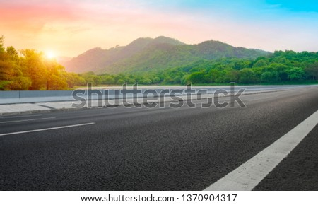 Road and Natural Landscape Landscape #1370904317
