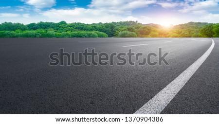 Road and Natural Landscape Landscape #1370904386