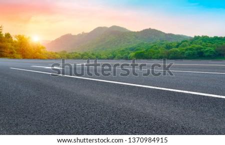 Road and Natural Landscape Landscape #1370984915