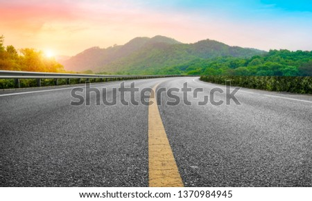 Road and Natural Landscape Landscape #1370984945