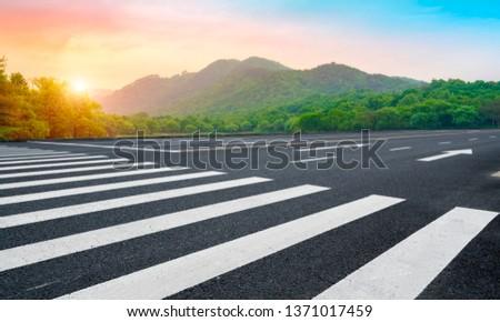 Road and Natural Landscape Landscape #1371017459