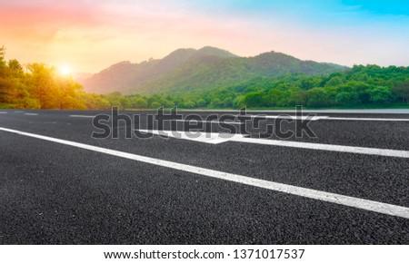 Road and Natural Landscape Landscape #1371017537