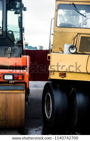 Road asphalt road rollers.Construction machinery #1140742700