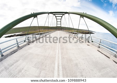 road bridge, fisheye shot with wide angle