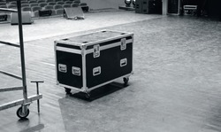 road case or flight case on stage