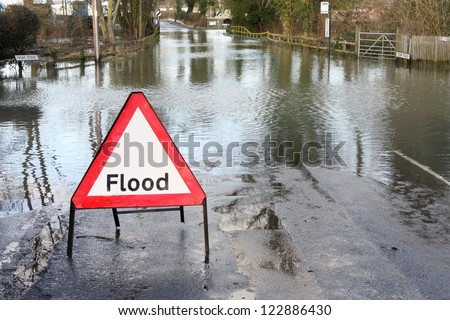 Road closed because of flooding