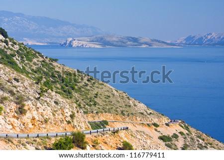 road, coastal landscape, Croatia