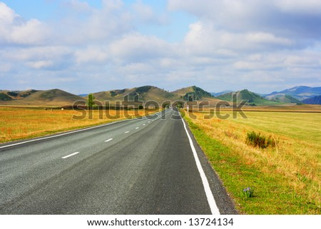 http://image.shutterstock.com/display_pic_with_logo/147157/147157,1213364703,2/stock-photo-road-crossing-steppe-and-going-to-hills-khakassia-siberia-russia-13724134.jpg