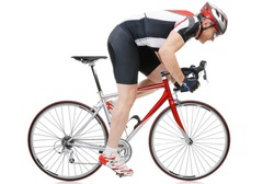Road cycler isolated on white background