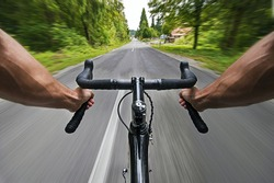 Road cycling wide angle speed  shoot