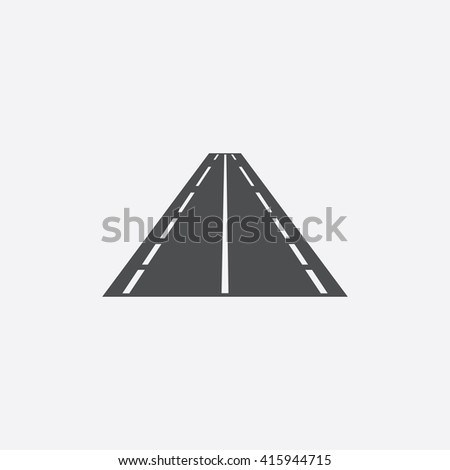 Road Flat icon on white background.