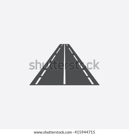 Road Flat icon on white background.