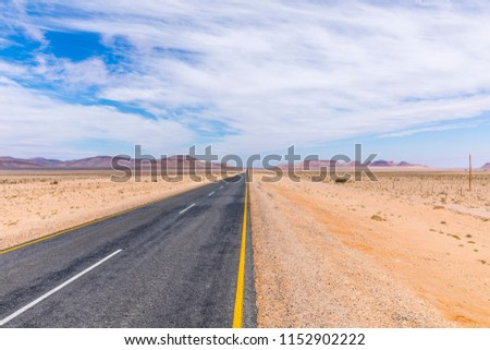 Road from Ai-Ais to Aus ( C13), Namibia.