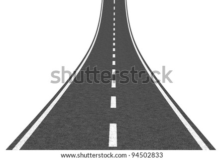 Road going up