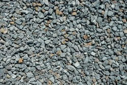 Road gravel. Gravel texture. Crushed Gravel background. Pile of Stones texture. Industrial coals