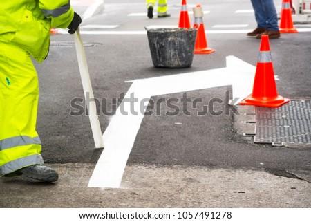road highway maintenance in city street #1057491278