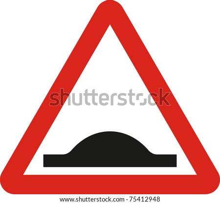 Road hump sign in JPG