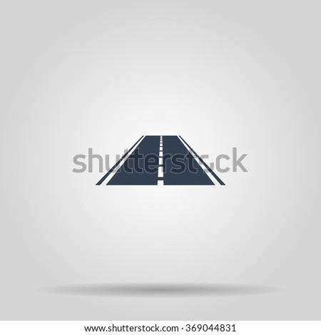 Road icon. Flat design style