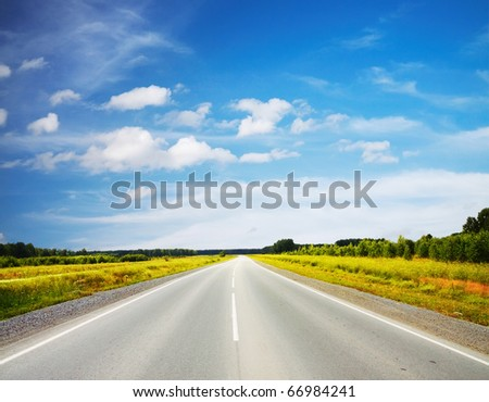 road in a field