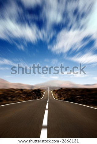 road in a rural area with a nice sky in motion