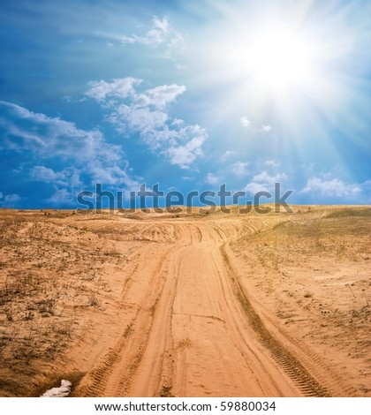 road in a sand