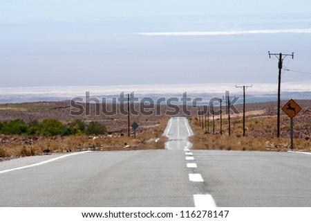 Road in Atacama desert, Chile