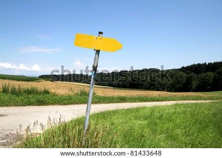 road in fields