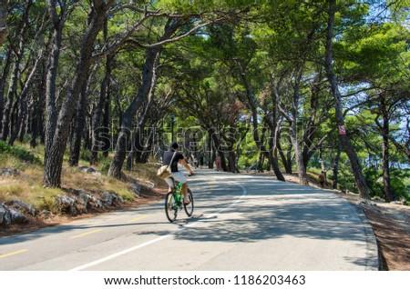Road in Marjan Park in Split, Croatia