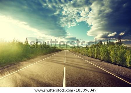 Shutterstock road in mountains