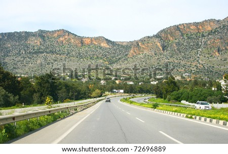 Road in Northern Cyprus.