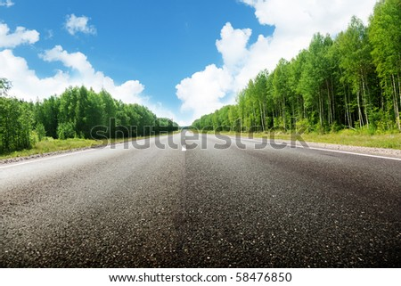 road in Russian forest
