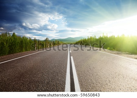 road in Russian mountains
