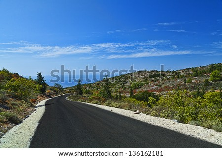Road In The Mountains Along The Coast
