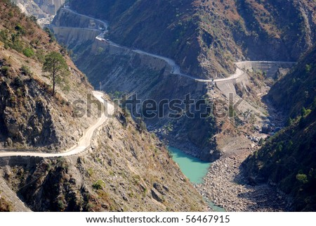 Road in the mountains, Jammu, India