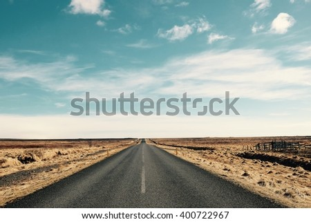 road in to sky landscape