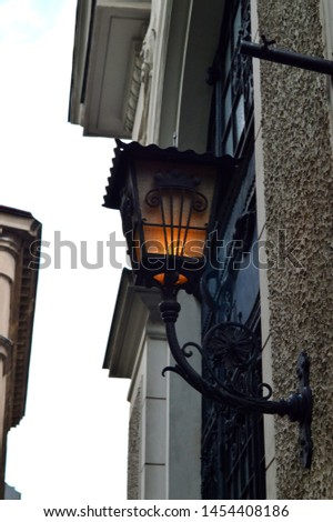 road lantern - glowing lamp - street lamp - street lamp in Vienna