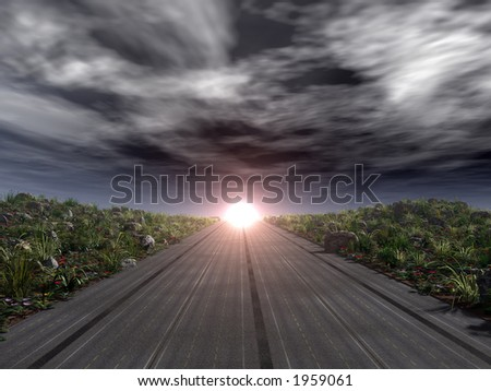 Road Leading to Light at the End
