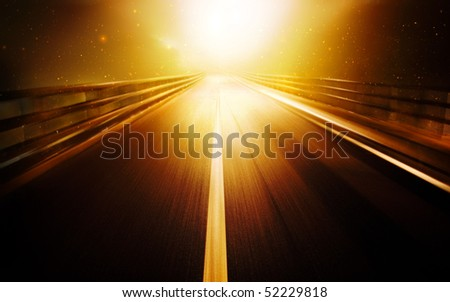 Road leads into the bright light