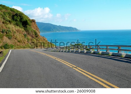 road ,long journey and seascape