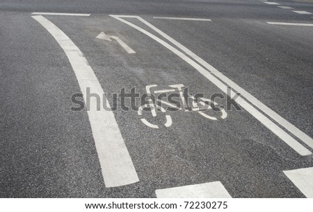 road marking bicyle lane #72230275